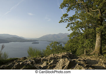 Derwent Water and Keswick from Friars Crag