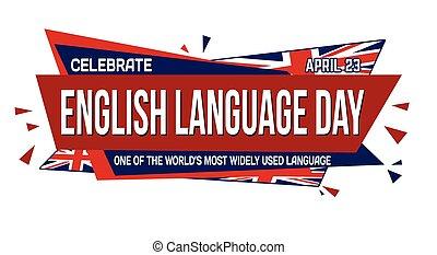 English language day banner design on white background, ...