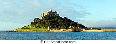 English medieval castle on island