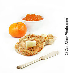 English Muffin with Orange and Marmalade