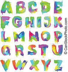English painted alphabet