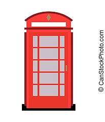 english phone booth icon
