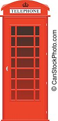 English phone booth - One symbol of the UK red street ...