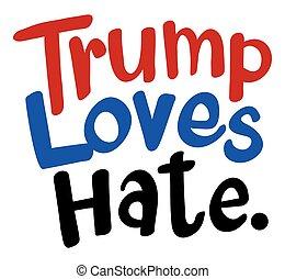 English phrase for Trump loves hat illustration