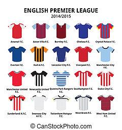English Premier League 2014 - 2015 - Vecotor icons set of...