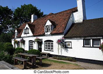 English Pub - Whitewashed English Vountry Inn