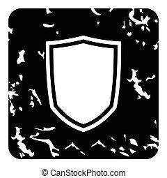 English shield icon, grunge style
