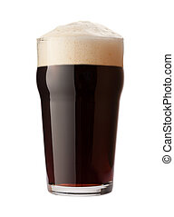 English Stout Isolated on white with a clipping path