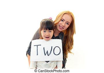 English teacher with girl