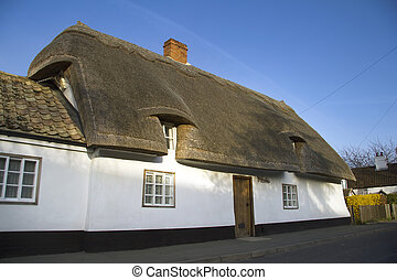 English thatched house