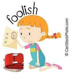 English vocabulary word foolish