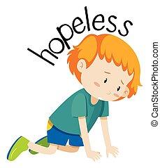 English vocabulary word hopeless