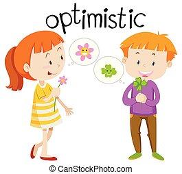 English vocabulary word optimistic