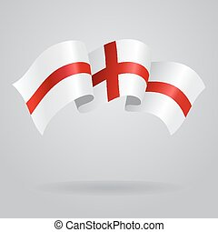 English waving Flag. Vector illustration
