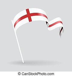English wavy flag. Vector illustration.