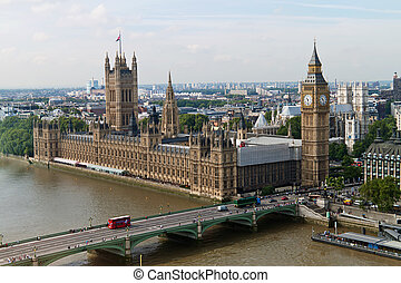 Englnad, London, Parliament - The English Parliament in...