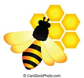 engraçado, abelhas