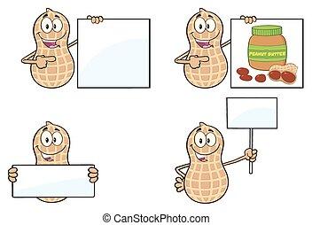 engraçado, amendoim, 5., cobrança, jogo