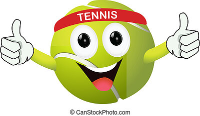 engraçado, bola tênis
