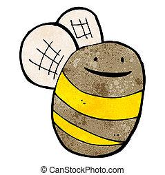 engraçado, caricatura, abelha