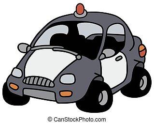 engraçado, carro polícia