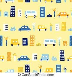 engraçado, city., carros
