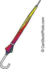 engraçado, cor guarda-chuva