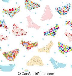engraçado, cute, padrão, seamless, desenho, calças
