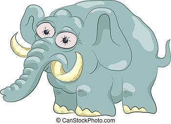 engraçado, elefante