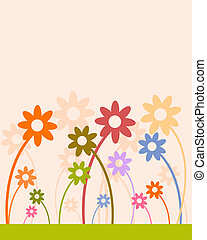 engraçado, flores