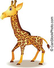 engraçado, girafa, caricatura