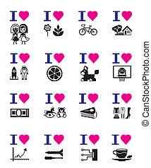 engraçado, jogo, amor, ícone