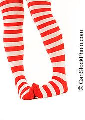 engraçado, meias desnudadas