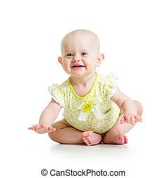 engraçado, menina bebê