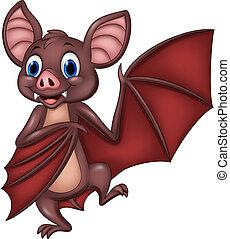 engraçado, morcego, posar, caricatura