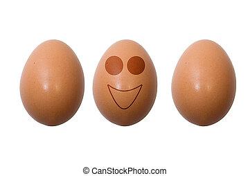 engraçado, ovos