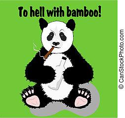 engraçado, panda