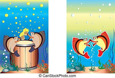 engraçado, peixe