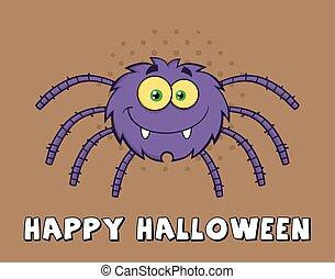 engraçado, personagem, aranha, caricatura