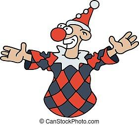 engraçado, preto vermelho, goof