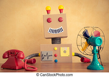 engraçado, robô brinquedo