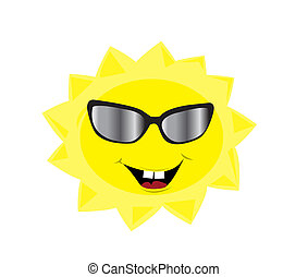 engraçado, sol, com, sunglass