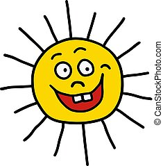 engraçado, sol
