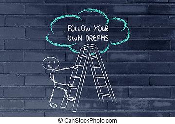 engraçado, sucesso, escada, motivational, escrita, desenho