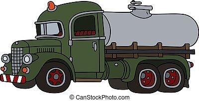 engraçado, tanque, vindima, caminhão