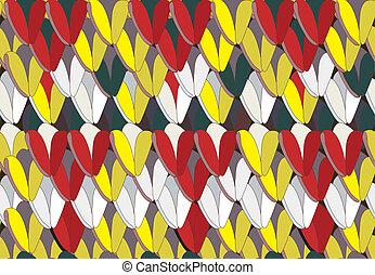 engraçado, tricotando, inverno, padrão, seamless, roupas