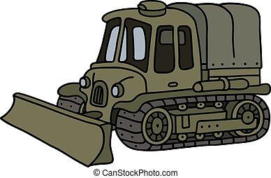 engraçado, veículo, localizado, vindima, militar