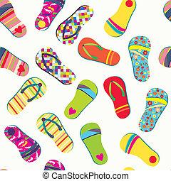 engraçado, verão, padrão, seamless, inverter, desenho, fracassos
