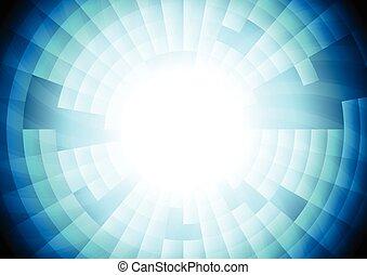 engranaje azul, luz, vector, tecnología, plano de fondo