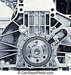 engranaje, en el coche, motor